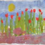 """Анна - 3 года-""""Цветы"""""""